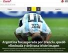 Báo chí thế giới nói gì sau khi Messi vỡ mộng ở World Cup?