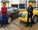 Đại gia Anh gốc Ấn chơi xe Rolls-Royce tiệp màu khăn quấn đầu