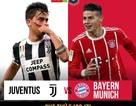 Đại chiến Juventus-Bayern và Milan-MU ở lượt trận thứ hai ICC 2018