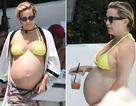 Diện bikini gợi cảm, Kate Hudson khoe bụng bầu căng tròn