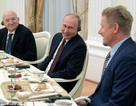 Tổng thống Putin gặp các huyền thoại bóng đá thế giới tại điện Kremlin