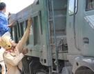 """Bắc Giang: Hàng trăm xe quá khổ, quá tải bị bắt quả tang, xử """"nóng""""!"""