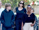 Angelina Jolie thanh lịch đưa con ra phố
