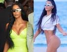 Kim Kardashian gợi cảm cùng chồng dự đám cưới