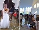 Ấn tượng lễ cưới rước dâu bằng thuyền giữa lênh đênh nước lụt