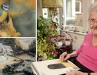 Mù mắt vẫn vẽ tranh, cụ bà 95 tuổi tạo ra toàn tuyệt phẩm