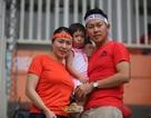 Chàng rể Hàn Quốc cổ vũ cho Olympic Việt Nam trong trận bán kết