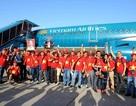 """Vietnam Airlines bố trí thêm hai """"chuyên cơ"""" đưa cổ động viên đi Indonesia cổ vũ Olympic Việt Nam"""