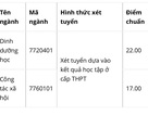 Điểm chuẩn Trường ĐH Y tế Công cộng đối với 2 ngành xét tuyển học bạ