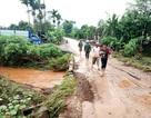 Hai thanh niên lao xe xuống dòng nước xiết trong mưa lớn, 1 người tử vong