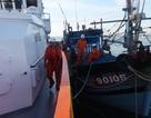 Cứu 6 ngư dân đã kiệt sức trên tàu cá gặp nạn ở vùng biển Hoàng Sa