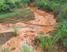 Nước suối đổi màu, lãnh đạo Công ty Nhôm nói chỉ là nước rửa quặng