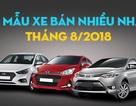 Top 10 mẫu xe bán nhiều nhất tháng 8/2018