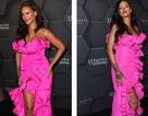 Rihanna rực rỡ với váy hồng