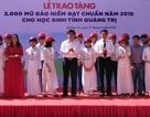 Quảng Trị: Tặng 2.000 mũ bảo hiểm cho học sinh vùng cao