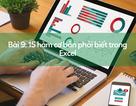 Học tin học Excel: 15 hàm cơ bản bạn nên biết