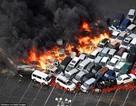 Hơn 100 xe hơi bốc cháy ngùn ngụt do siêu bão ở Nhật Bản