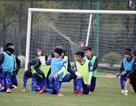 Cận cảnh U23 Việt Nam căng mình tập luyện dưới giá rét tại Trung Quốc