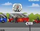 """Góc biếm họa: Mua toàn """"bom tấn"""", Mourinho vẫn ghen tỵ với Guardiola"""