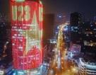 Hà Nội: Cả một tòa cao ốc rực sáng quốc kỳ cổ vũ U23 Việt Nam