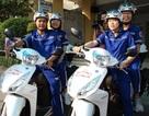 Xe 2 bánh làm nhiệm vụ cứu thương ở cửa ngõ Sài Gòn