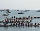 Khai hội đua thuyền tứ linh đầu xuân ở đảo Lý Sơn