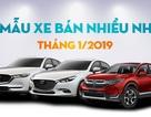 10 mẫu xe bán nhiều nhất tháng 1/2019: Toyota Vios bị hạ bệ