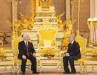 Tổng Bí thư, Chủ tịch nước Nguyễn Phú Trọng hội đàm với Quốc vương Campuchia Norodom Sihamoni