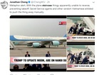 Xe thang chuyên cơ của Tổng thống Trump gặp trục trặc tại sân bay