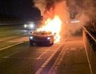 Siêu xe Lamborghini bốc cháy sau khi đi bảo dưỡng