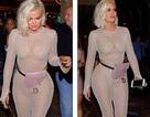 Khloe Kardashian diện trang phục lưới táo bạo
