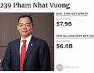 Chỉ 1 tuần, tài sản ông Phạm Nhật Vượng đã tăng tới 1,3 tỷ USD