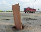 Hàng loạt nắp cống trên tuyến đường đẹp nhất Quảng Ngãi bị lấy cắp