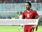 Cầu thủ Indonesia bị FIFA cấm tham dự vòng loại U23 châu Á