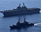 Tàu chiến, máy bay Mỹ - Philippines tập trận rầm rộ trên Biển Đông