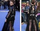 Lily Collins quyến rũ với váy xuyên thấu
