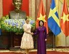 Phó Chủ tịch nước Đặng Thị Ngọc Thịnh chủ trì lễ đón Công chúa Thụy Điển