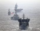 Tàu hải quân Mỹ và 3 nước lần đầu tập trận chung trên Biển Đông