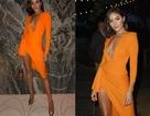Hoa hậu hoàn vũ Olivia Culpo sexy với váy cam