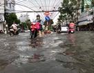 Mưa trắng trời hơn 2 giờ, đường phố Bạc Liêu thành sông