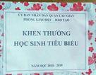 Phòng Giáo dục quận Cầu Giấy xin lỗi phụ huynh, học sinh về phần thưởng là tờ giấy