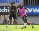 Cầu thủ Arsenal tích cực tập luyện trước trận chung kết Europa League