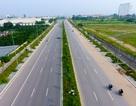 Đường 8 làn xe mới hoàn thành ở cửa ngõ Tây Bắc Hà Nội