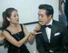 """Dương Khắc Linh được vợ mới cưới """"chăm sóc tận răng"""" trong hậu trường"""
