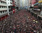 """""""Biển người"""" áo đen Hong Kong biểu tình dù dự luật dẫn độ đã bị hoãn"""