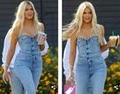 """Khloe Kardashian diện """"cây"""" đồ Jeans khoe thân hình bốc lửa"""
