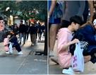 Đẳng cấp bạn trai: Hóa thân thành ghế ngồi cho bạn gái ngay giữa đường