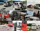 Tai nạn liên hoàn giữa 4 ô tô, xe 7 chỗ nát bươm, 2 người bị thương