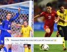 Cổ động viên Thái Lan vui mừng khi đội nhà chung bảng với tuyển Việt Nam