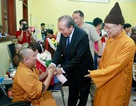 Phó Thủ tướng dự Ngày hội hiến máu, hiến tạng tại Học viện Phật giáo